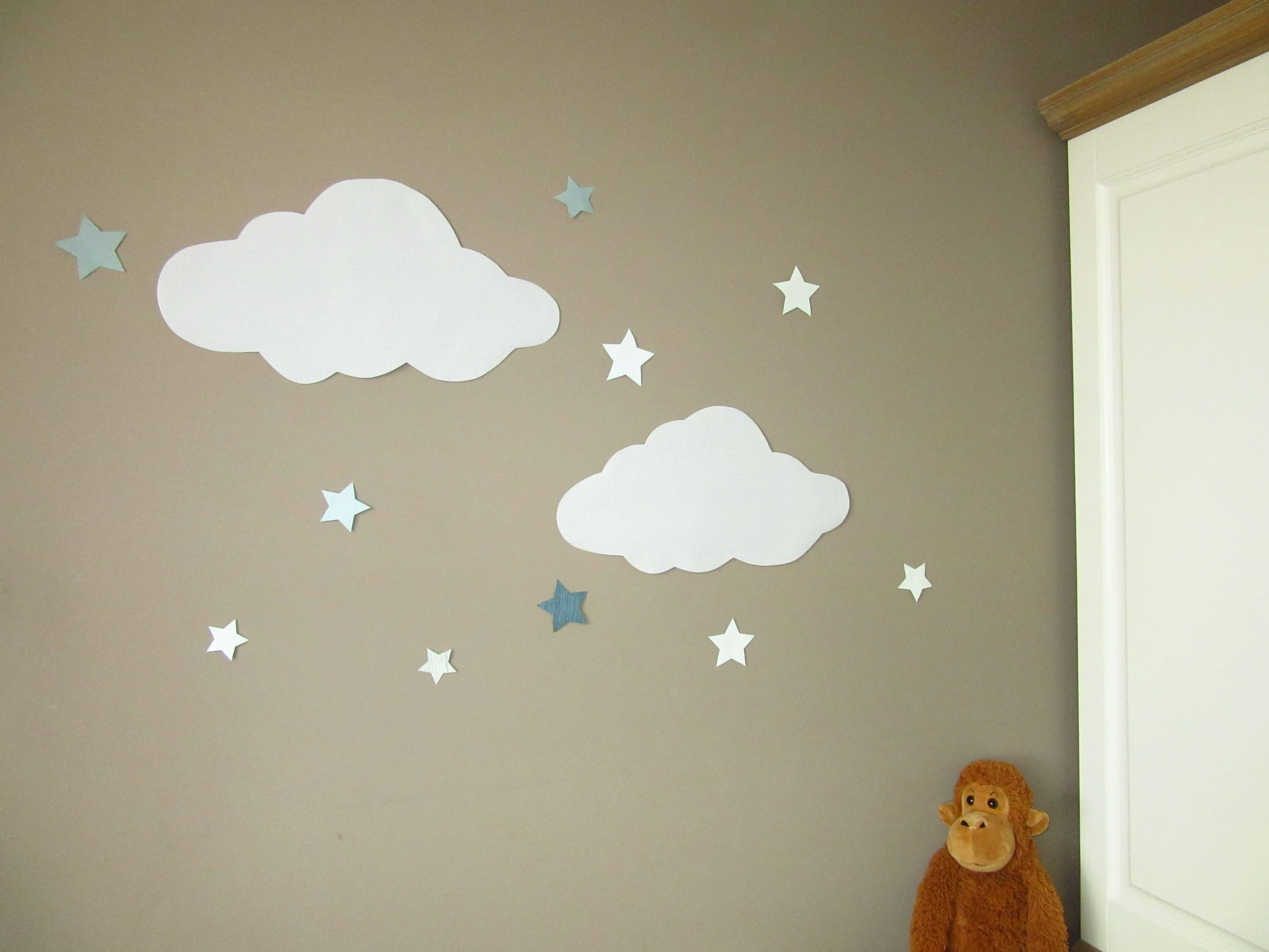 Babykamer Behang Grijs : Wolken van behang u uiltje boompje beestje