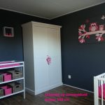 behangdecoratie op canvasdoek mdf plaat muurdecoratie babykamer uilen behangtak