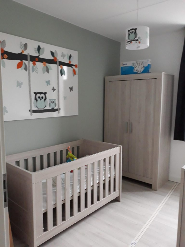canvasdoek behangdecoratie alternatief muurdecoratie mintgroen babykamer