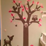 muurdecoratie behangboom behangtal uil behang babykamer