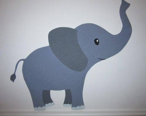 olifant muurdecoratie behang kinderkamer babykamer behang