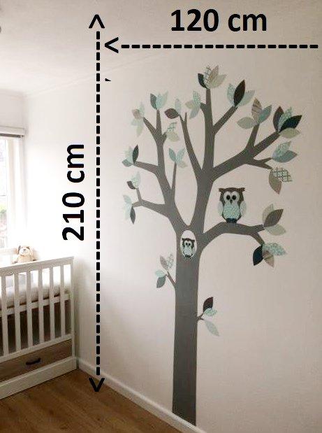 Kleinere behangboom behang babykamer 210