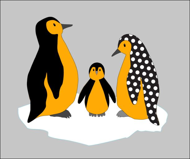Pinguin behangdecoratie muurdecoratie babykamer kinderkamer pinguins baby sneeuw