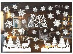 Raamsticker hert kerst statischfolie kerstversiering kerstmis raamdecoratie raam sneeuw
