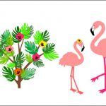 Flamingo babykamer roze behangdecoratie muurdecoratie botanisch jungle kinderkamer behang