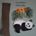 Panda muurdecoratie muursticker babykamer early dew