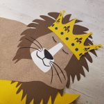 Leeuw behangdecoratie muursticker lion behangbeest babykamer kinderkamer lion king maan sterren behang kroon