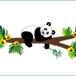 panda behangdecoratie babykamer kinderkamer muursticker behang