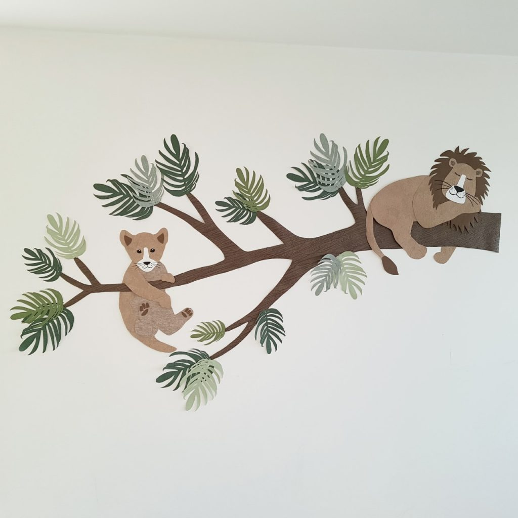 leeuw muursticker behangdecoratie babykamer kinderkamer trend 2020 tropisch jungle
