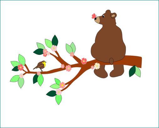 muurdecoratie beer opbehangtak babykamer deco