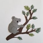 Koala behangdecoratie lampenkap behang babykamer