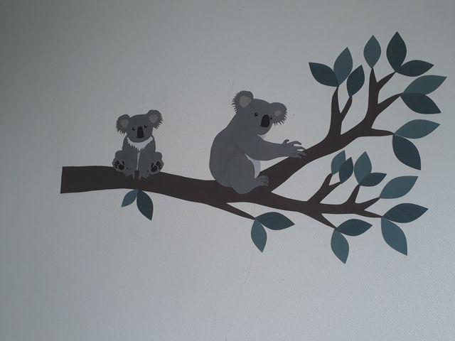 koala behangdecoratie babykamer
