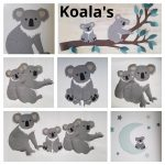 Koala behangdecoratie muurdeco