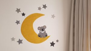Koala muursticker behang babykamer decoratie trend 2020