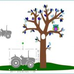 Tractor behangdecoratie babykamer behang